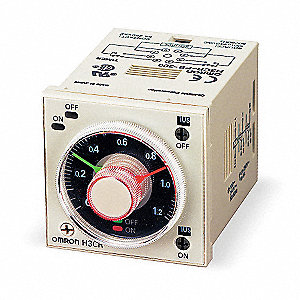 Time Delay Relay,120VAC,5A,DPDT,Socket