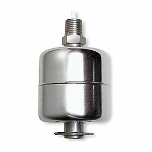 "Vertical Open Tank Liquid Level Switch, Selectable, Stainless Steel, 1/4"" NPT"