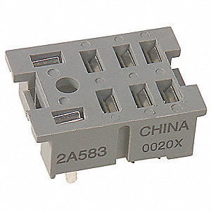 Relay Socket, Socket Type: Standard, Socket Style: Square, Number of Pins: 8