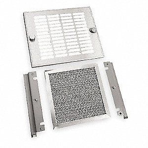 Steel and Aluminum Exhaust Grille, 1 EA,For Fan Size (In.) 7-1/8
