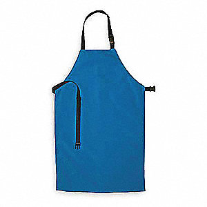Cryogenic Apron,Blue,48 In. L,24 In. W