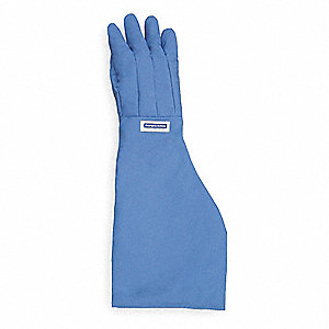"Shoulder Length Cryogenic Gloves, Nylon Taslan And PTFE, Size M, 26 to 27"" Length"