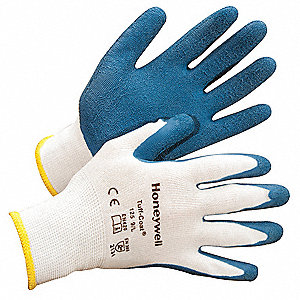 Coated Gloves,XL,Blue/White,PR