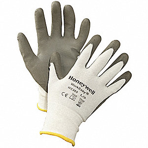 Coated Gloves,Gray/White,S,PR