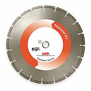 "7"" Dry Diamond Saw Blade, Segmented Rim Type"