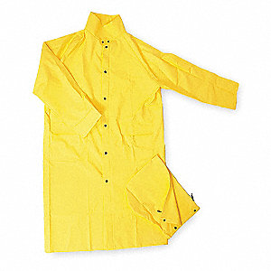 FR Raincoat with Detach Hood,Yellow,S