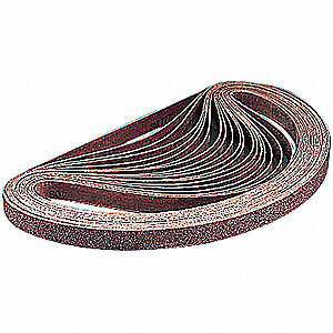 "Sanding Belt, 72"" Length, 2"" Width, Ceramic, 60 Grit, Medium, Coated, 977F, PK50"