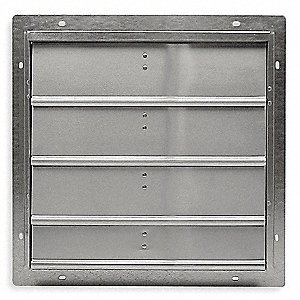 "20"" Backdraft Damper / Wall Shutter, 20-1/2"" x 20-1/2"" Opening Required"