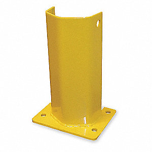 "Pallet Rack Protector, Steel, 4-5/8"" Overall Width, 18"" Overall Height"