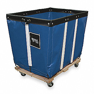 "Permanent Liner Basket Truck, 6.0 Bushel Capacity, 20"" Overall Width, 30"" Overall Length"