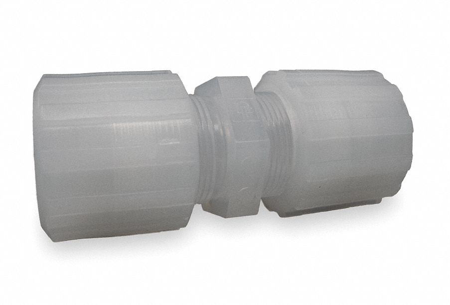 Pargrip pfa ptfe etfe compression straight connector