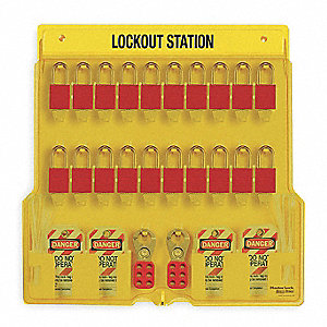 Lockout Station,Filled,20 Padlocks
