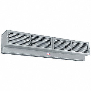 Air Curtain, 14,400 cfm, 81 dBA @ 10 Feet, Max. Door Width 10 ft., Max. Mounting Height 16 ft.