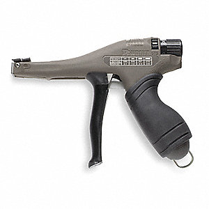 Narrow Cable Tie Gun,18 to 50 lb.,Nylon