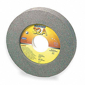 "12"" Recessed Grinding Wheel, 32A46-KVBE, Type 7, 2"" Thickness, 5"" Arbor Hole, 1/2"" Recess Depth"