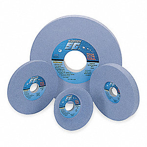 "12"" Straight Grinding Wheel, 1-1/2"" Thickness, 5"" Arbor Size, Soft (G), Toolroom, Ceramic Aluminum O"