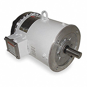5 HP Washdown Motor,3-Phase,1750 Nameplate RPM,208-230/460 Voltage,Frame 184TC