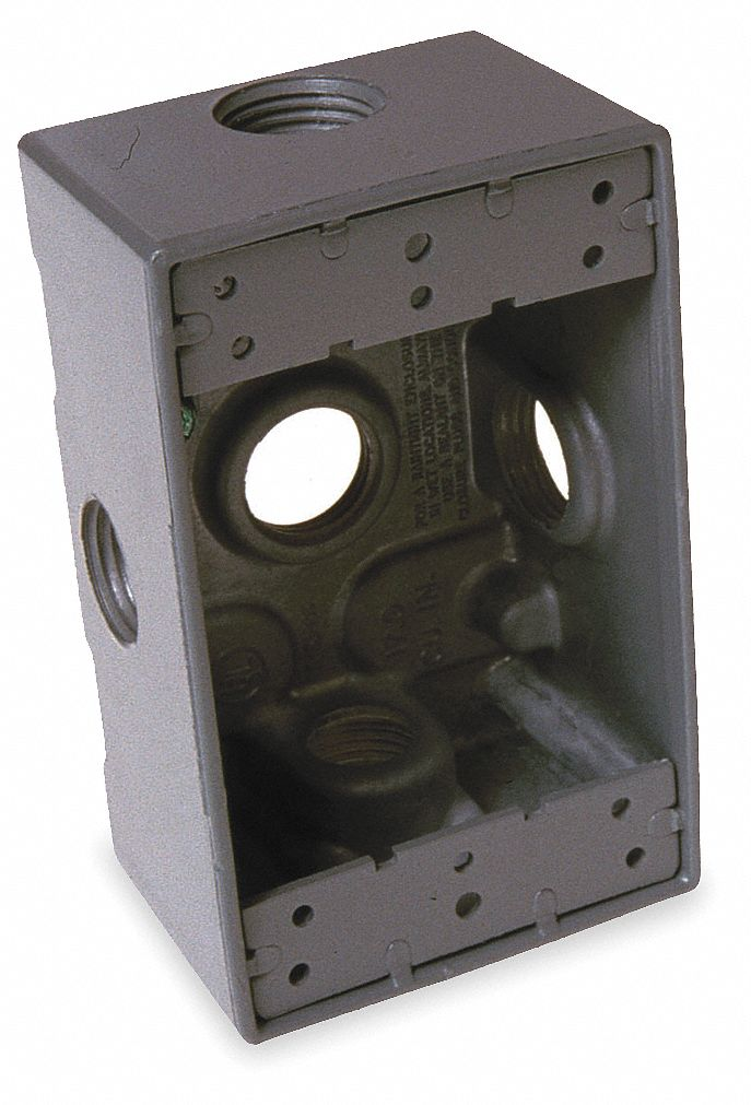 Bell Weatherproof Electrical Box 1 Gang 5 Inlet