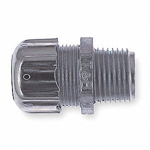 Malleable Iron/Steel Noninsulated Connector, Connector Type: Straight, Conduit Size:  2""