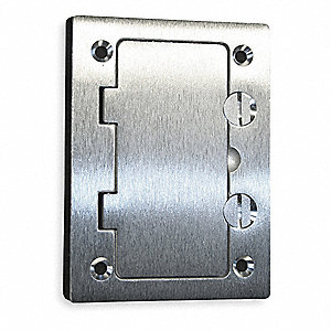 hubbell wiring device kellems floor box cover rectangular aluminum 2ddx4 sa3826 grainger. Black Bedroom Furniture Sets. Home Design Ideas