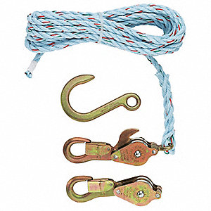 Block and Tackle, Lifting Capacity 750 lb., Pull Capacity 750 lb., Reach Capability 12 ft.