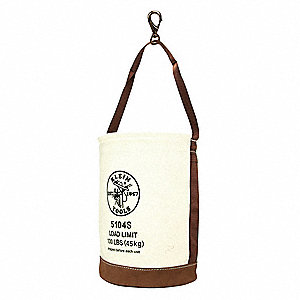 Bucket,#1 Canvas,Leather-Bottom,Swivel S