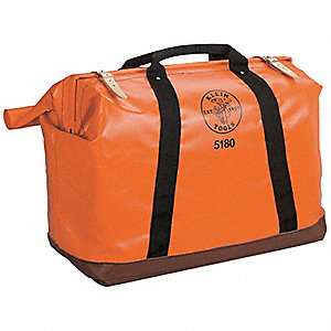 Synthetic Tool Bag, General Purpose, Number of Pockets: 1, Orange