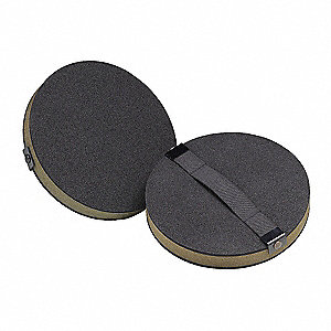 Screen Cloth Disc Pad w/Strap,5 In,PK10