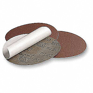 "6"" PSA Sanding Disc Roll, Aluminum Oxide, 60 Grit, Coarse, No Hole, Open Coat, Resin Bonded, 341D"