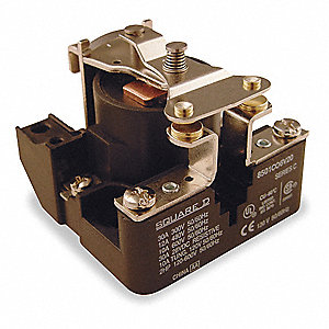 Open Power Relay, 4 Pins, 120VAC Coil Volts, 40A @ 277VAC/28VDC Contact Amp Rating (Resistive)
