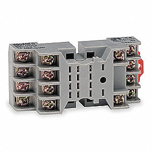 Relay Socket, Socket Type: Standard, Socket Style: Square, Number of Pins: 14
