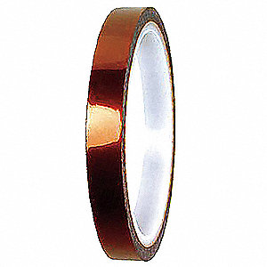 "Amber Flame Retardant Polyimide Electrical Tape, 1"" Width, 108 ft. Length, 1 mil Thickness"