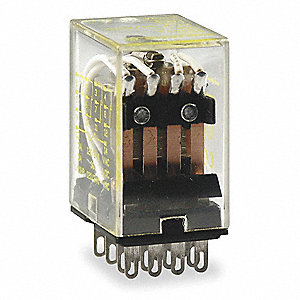 Flange Relay, 14 Pins, Square Base Type, 5A @ 240VAC/28VDC Contact Rating, 24VDC Coil Volts