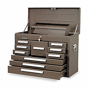 "Brown Top Chest, 26-1/8"" Width x 12-1/8""  Depth x 18-7/8"" Height, Number of Drawers: 10"