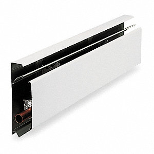"Conventional Hydronic Baseboard Heater, Residential, Floor, Length 48"", Height 7-1/16"""
