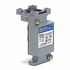 1NO/1NC Plug In Compact Limit Switch Body, AC Contact Rating: 10A @ 600VAC