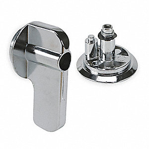 ADA Concealed Latch Knobs,Zamac,1.5 In H
