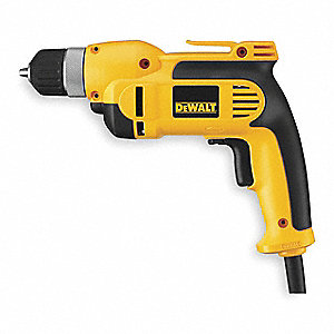 "3/8"" Electric Drill, 8 Amps, Pistol Grip Handle Style, 0 to 2500 No Load RPM, Voltage 120"