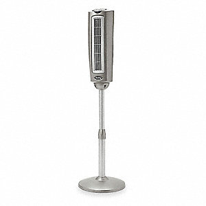 "Oscillating, 3-1/2"" Tower Fan, 120V Voltage, 3 Number of Speeds"