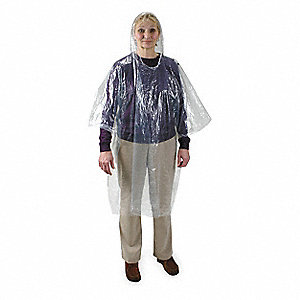 Disposable Poncho,Clear,PK24