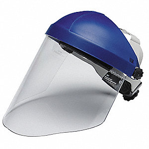 Ratchet Faceshield Assembly,Blu,9x14-1/2