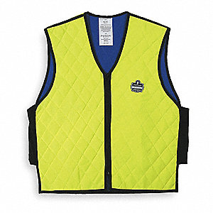 Cooling Vest,XL,Hi-Vis Lime,24 In. L