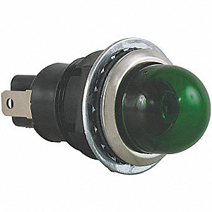 "Raised Indicator Light, Incandescent Lamp Type, 24VAC/DC Voltage, 3/4"" Mounting Dia. Size"