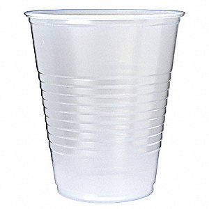 12 oz. Disposable Cold Cup, Polystyrene Plastic, Translucent, PK 1000