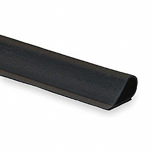 "Intumescent Silicone, Fire and Smoke Seal, Dark Bronze, 18 ft. Overall Length, 1/2"" Overall Width, 1"