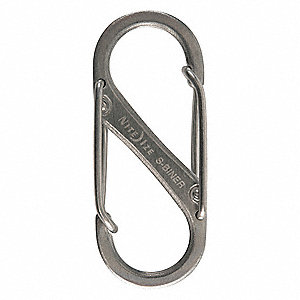 Double Gated Carabiner,1-9/16 In.,PK2