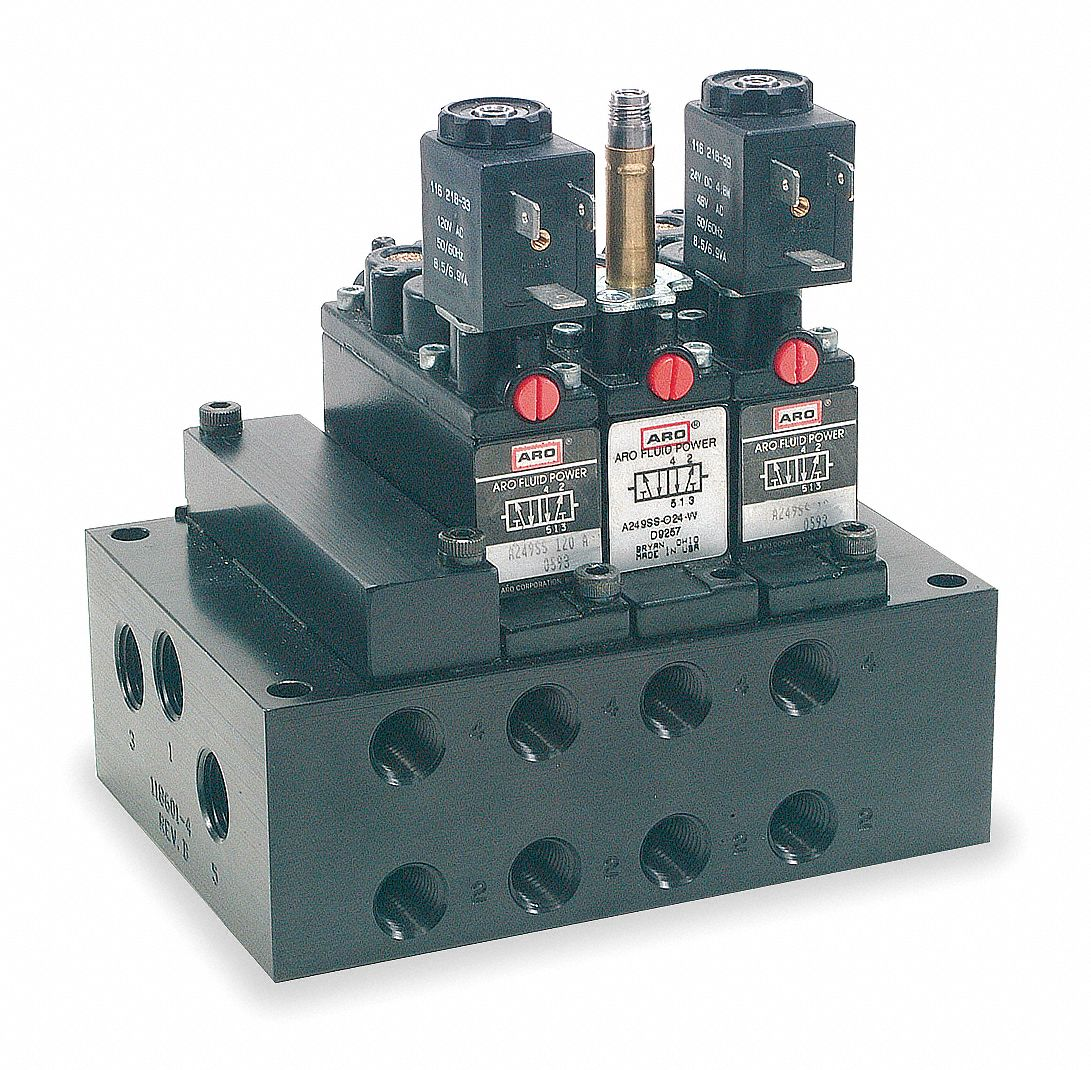 ARO Solenoid Valve Manifold For Use With: Alpha Manifold ...