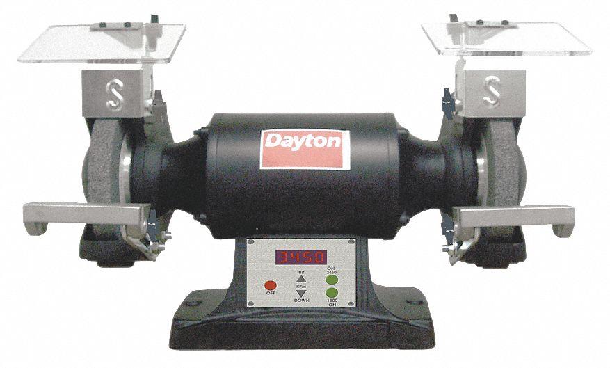 Dayton 8 Quot Bench Grinder 120v 1 1 2 Hp 1800 3450 3600