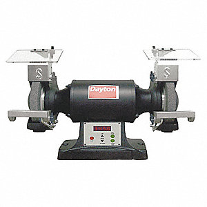 "3/4 HP Bench Grinder, 120 Voltage, 1 Phase, 7.5 Amps, 6"" Wheel Dia."