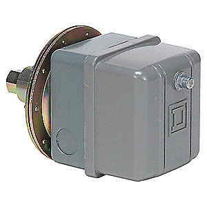 "Vacuum Switch,DPST,3/8""Hg,1/4-18"" FNPS"